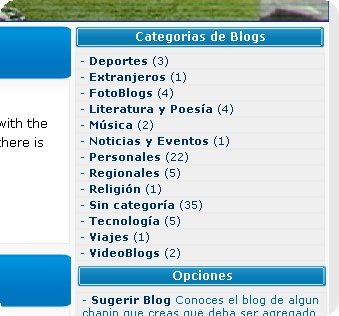 BlogsChapines - Categorias