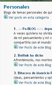 BlogChapines-Posts en Categorias
