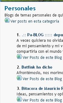 BlogChapines-Posts en Categorias