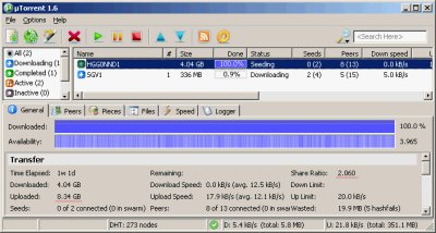 BitTorren - sharing