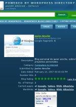 Javier Aroche en Powered by WordPress